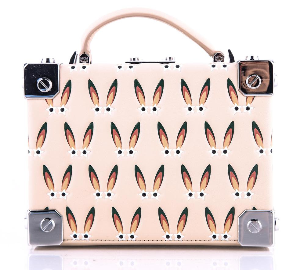 1c0d9a926d MCM Berlin Star Eyed Bunny Motif Pink Leather Cross Body Bag - Tradesy