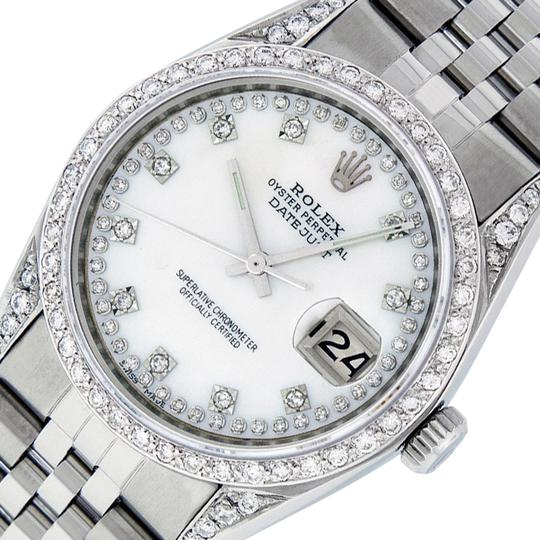 Preload https://item3.tradesy.com/images/rolex-white-mop-mens-datejust-and-18k-gold-string-diamond-watch-23008007-0-1.jpg?width=440&height=440
