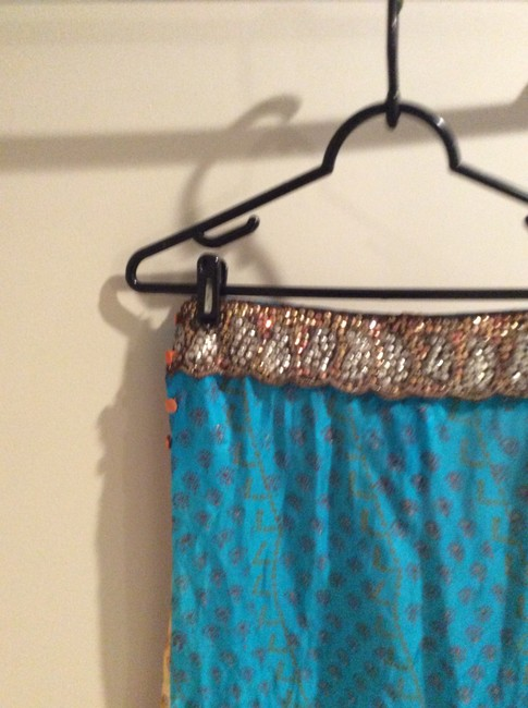 Anthropologie Skirt Blue and orange