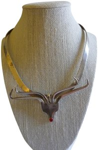 Preload https://item5.tradesy.com/images/925-silver-red-nosed-reindeer-necklace-23008084-0-1.jpg?width=440&height=440