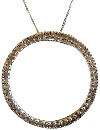 Preload https://item1.tradesy.com/images/silver-925-circle-necklace-23008110-0-1.jpg?width=440&height=440