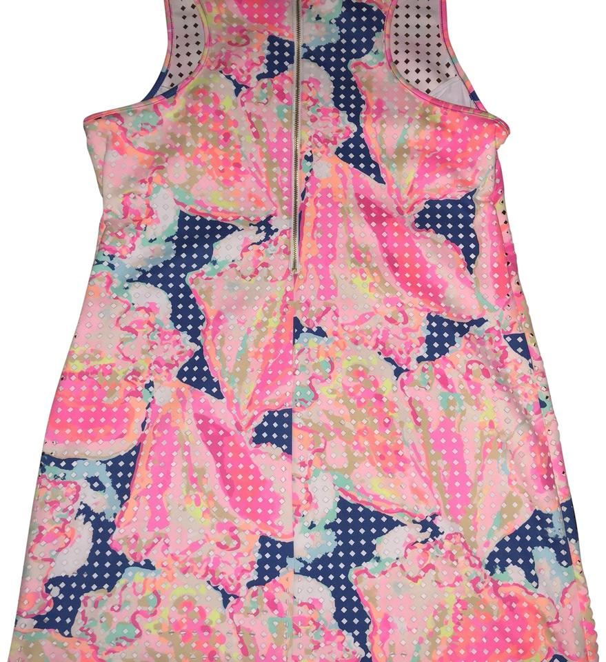Lilly Pulitzer Pink Perla Mid Length Cocktail Dress Size 16 Xl