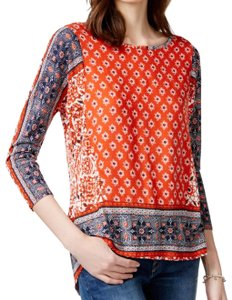 Lucky Brand Top red print