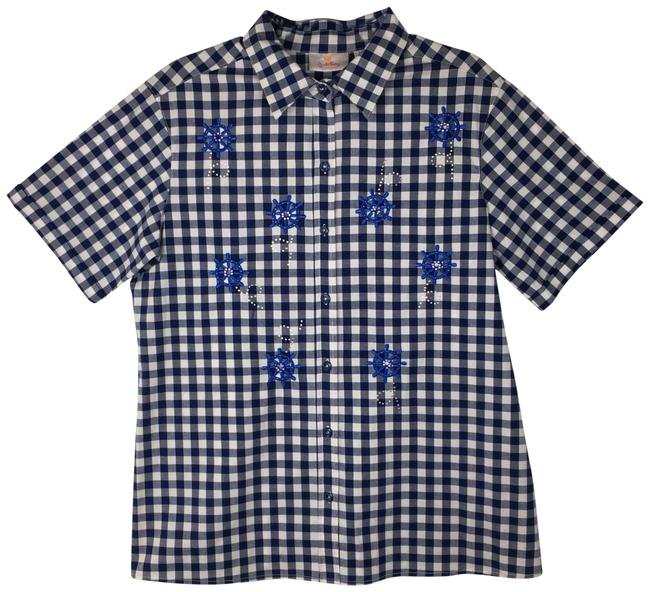 Preload https://img-static.tradesy.com/item/23008147/quacker-factory-navy-blue-white-gingham-nautical-button-down-top-size-10-m-0-1-650-650.jpg