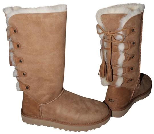 Preload https://img-static.tradesy.com/item/23008150/ugg-australia-chestnut-kristabelle-tall-lace-up-suede-shearling-bootsbooties-size-us-8-regular-m-b-0-1-540-540.jpg