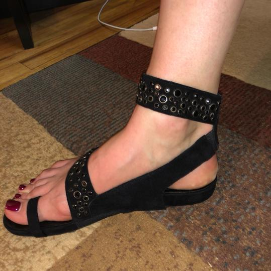 Stuart Weitzman black/studded Sandals