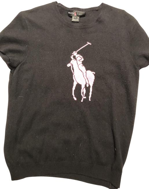 Preload https://item1.tradesy.com/images/ralph-lauren-black-pink-horse-sweaterpullover-size-12-l-23008170-0-1.jpg?width=400&height=650