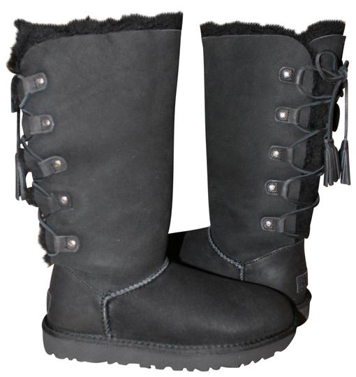 Preload https://img-static.tradesy.com/item/23008194/ugg-australia-black-kristabelle-tall-lace-up-suede-shearling-bootsbooties-size-us-7-regular-m-b-0-1-540-540.jpg