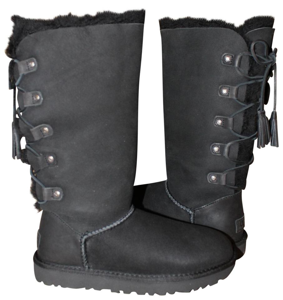 c194a63169b UGG Australia Black Kristabelle Tall Lace Up Suede Shearling Boots/Booties  Size US 7 Regular (M, B) 33% off retail