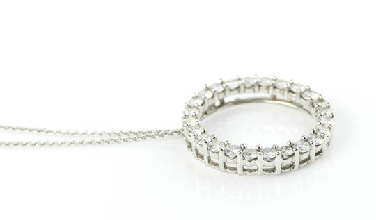 Open Circle Eternity Diamonds Open Circle Eternity Pendant White Gold Necklace