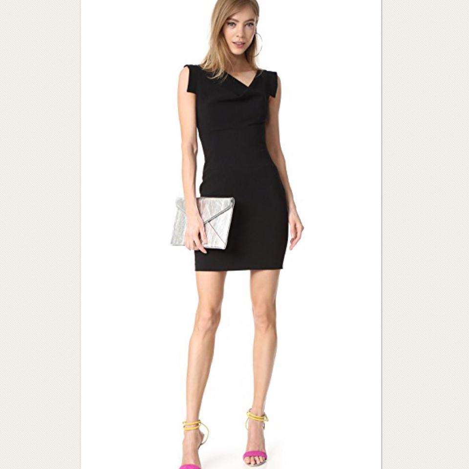Black halo jackie o mini short cocktail dress size 6 s for Cocktail jacqueline