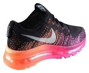 Nike Running Cross Training Ultra Light Nike Flyknit Air Max 2014 BRAND NEW - ON SALE - Black/Magenta/Atomic Orange Women's Size 8 Athletic