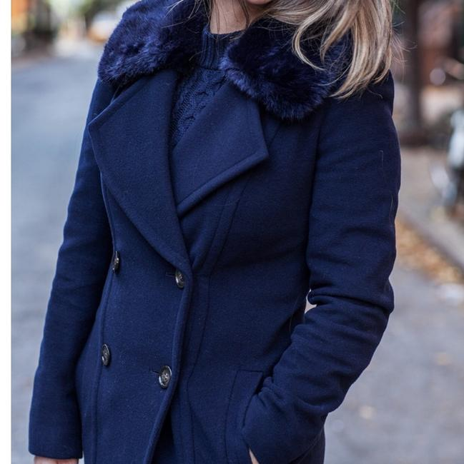 Planet London Double Breasted Wool Coat Pea Coat
