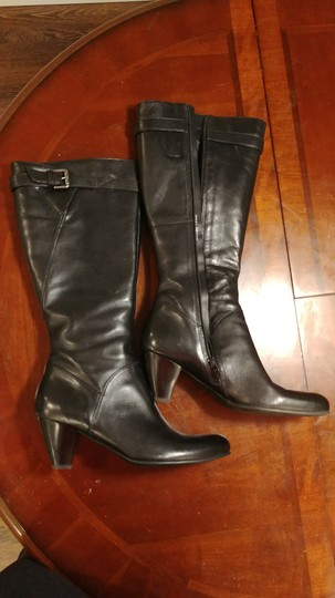 Ecco Midcalf Leather Black Boots