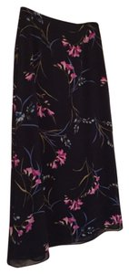 Jaclyn Smith Skirt Navy Floral