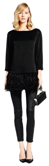 Preload https://item3.tradesy.com/images/kate-spade-black-feather-tunic-size-8-m-23008417-0-3.jpg?width=400&height=650