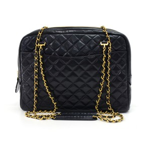Chanel Lambskin Leather Tote Shoulder Bag