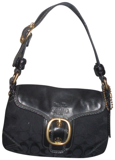 Preload https://item1.tradesy.com/images/coach-11441-dk-leathersignature-jacquard-buckle-bleeker-m-black-leather-shoulder-bag-23008470-0-1.jpg?width=440&height=440