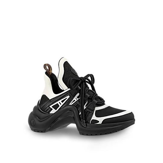 Preload https://img-static.tradesy.com/item/23008497/louis-vuitton-black-lv-archlight-white-ss18-lace-up-flat-trainer-sneaker-sneakers-size-eu-38-approx-0-0-540-540.jpg