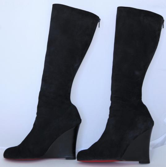 Christian Louboutin Over The Knee Thigh High Red Sole Black Boots