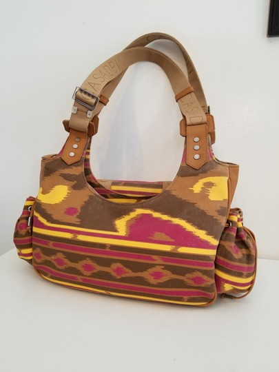 Casadei Made In Italy Leather Fabric Shoulder Satchel in multi Color