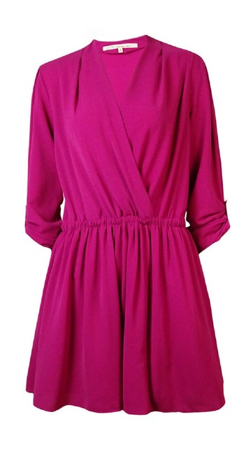 Preload https://img-static.tradesy.com/item/23008637/rachel-roy-pink-surplice-crepe-m-short-workoffice-dress-size-10-m-0-0-650-650.jpg