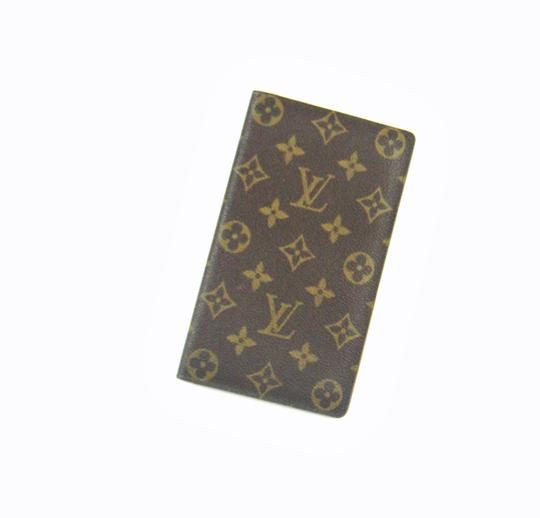 Preload https://item1.tradesy.com/images/louis-vuitton-brown-rare-vintage-monogram-canvas-leather-oversized-long-travel-wallet-23008665-0-0.jpg?width=440&height=440