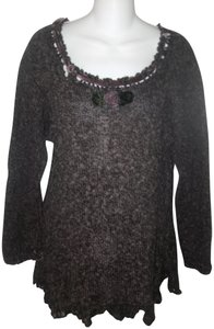 Hot Knots Hand Knit One Of A Kind Sweater