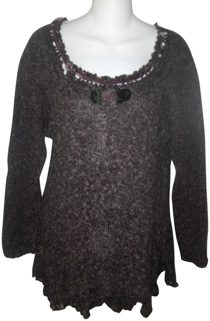 Preload https://item2.tradesy.com/images/brown-one-of-a-kind-hand-knit-velvet-accented-sm-sweaterpullover-size-8-m-23008666-0-1.jpg?width=400&height=650