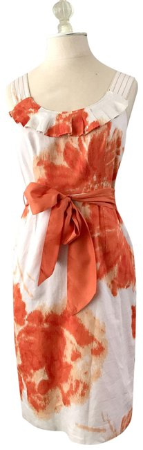 Preload https://img-static.tradesy.com/item/23008721/orange-watercolor-mid-length-night-out-dress-size-0-xs-0-1-650-650.jpg