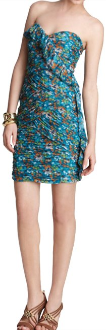 Preload https://item3.tradesy.com/images/max-and-cleo-green-blue-keegan-bluesail-strapless-ruched-short-night-out-dress-size-10-m-23008727-0-2.jpg?width=400&height=650