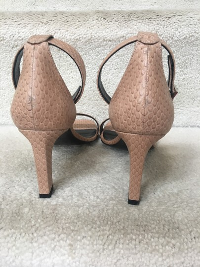 Saint Laurent Ysl Ankle Strap Nude Sandals