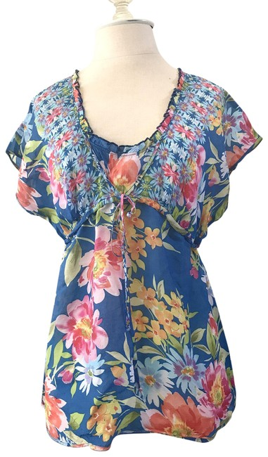 Preload https://item2.tradesy.com/images/johnny-was-blue-floral-blouse-size-6-s-23008806-0-1.jpg?width=400&height=650