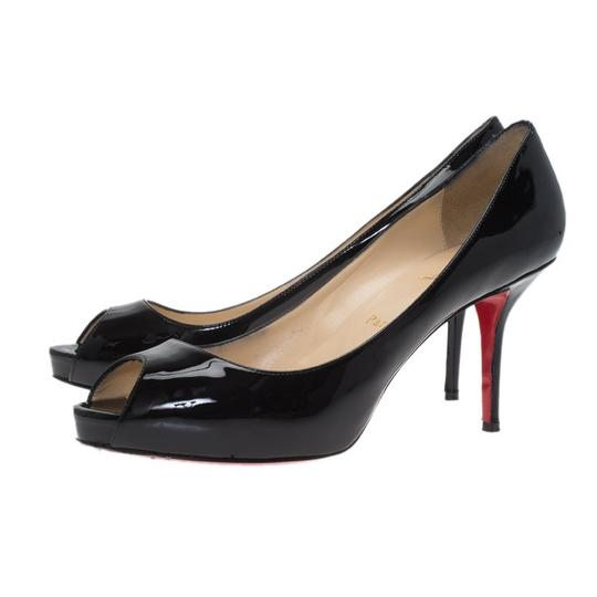 Christian Louboutin Patent Leather Mater Claude Black Pumps