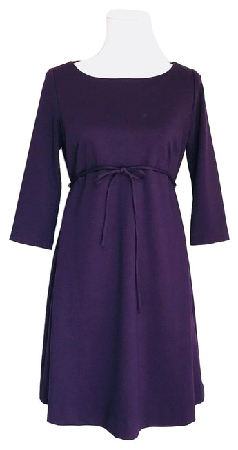 Preload https://img-static.tradesy.com/item/23008838/motherhood-maternity-eggplantpurple-mid-length-short-casual-dress-size-4-s-0-1-650-650.jpg