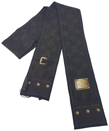 Preload https://img-static.tradesy.com/item/23008869/louis-vuitton-brown-multicolor-gold-new-denim-silk-bandeau-scarfwrap-0-2-540-540.jpg