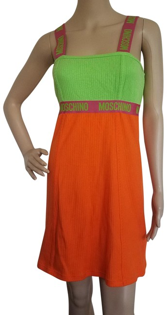 Preload https://item4.tradesy.com/images/moschino-multicolor-green-orange-lime-sleeveless-colorblock-mini-mid-length-casual-maxi-dress-size-1-23008873-0-2.jpg?width=400&height=650