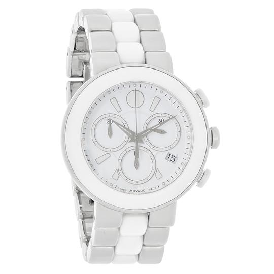 Preload https://item5.tradesy.com/images/movado-white-women-s-chronograph-dial-ceramic-0606758-watch-23008909-0-0.jpg?width=440&height=440