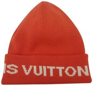 Louis Vuitton Orange white Louis Vuitton LV Cup cashmere-blend beanie 6e2170db574d