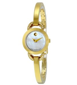 Movado Movado Women's Rondiro White Mother of Pearl Dial Gold Watch 0606889