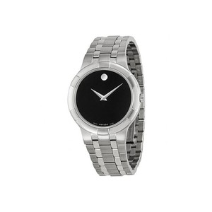Movado Movado Metio Black Dial Stainless Steel Watch