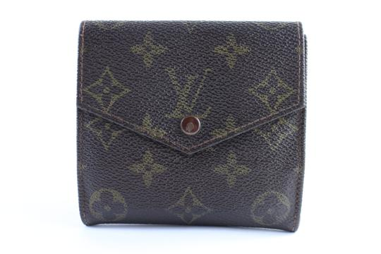 Preload https://img-static.tradesy.com/item/23009106/louis-vuitton-monogram-elise-compact-coin-purse-4lr0307-brown-coated-canvas-clutch-0-1-540-540.jpg