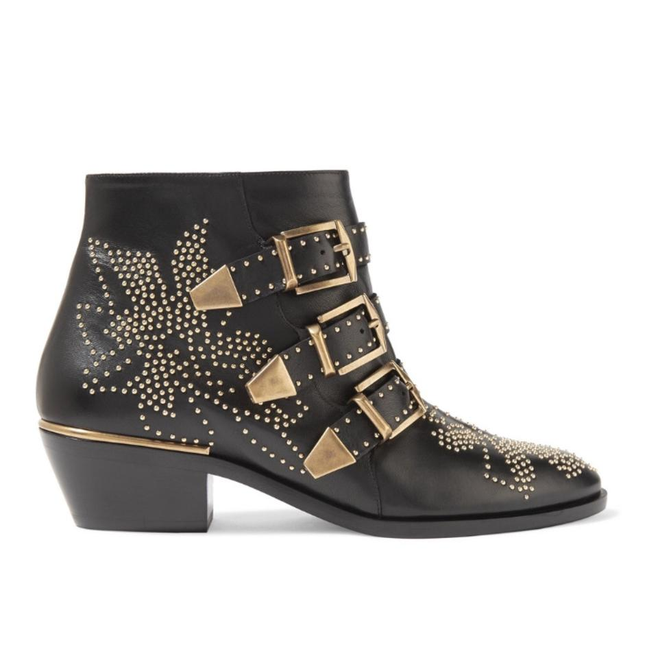 1f53d053eab1 Chloé Susanna Studded Leather Ankle Boots Booties Size US 6.5 ...