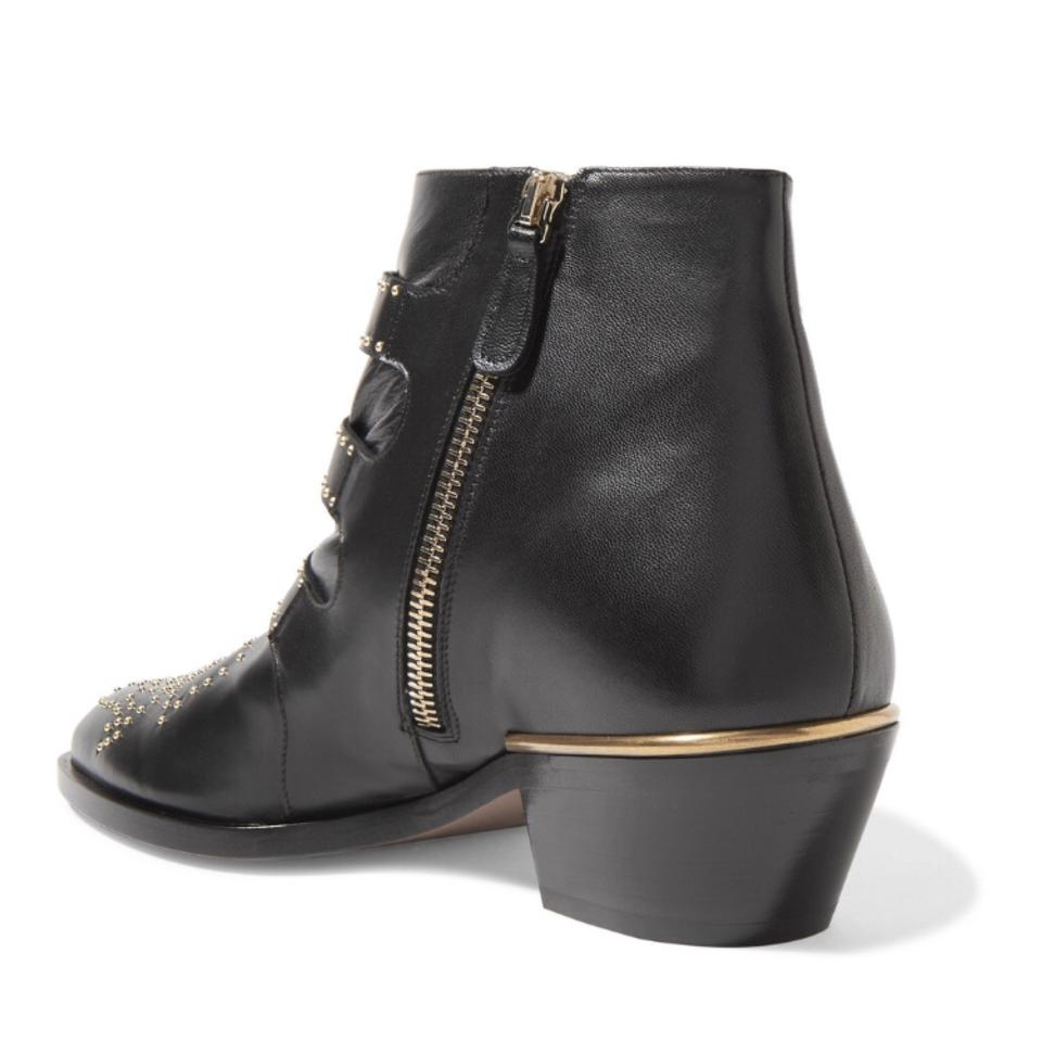 ea964f558a97 Chloé Susanna Studded Leather Ankle Boots Booties Size US 6.5 Regular (M