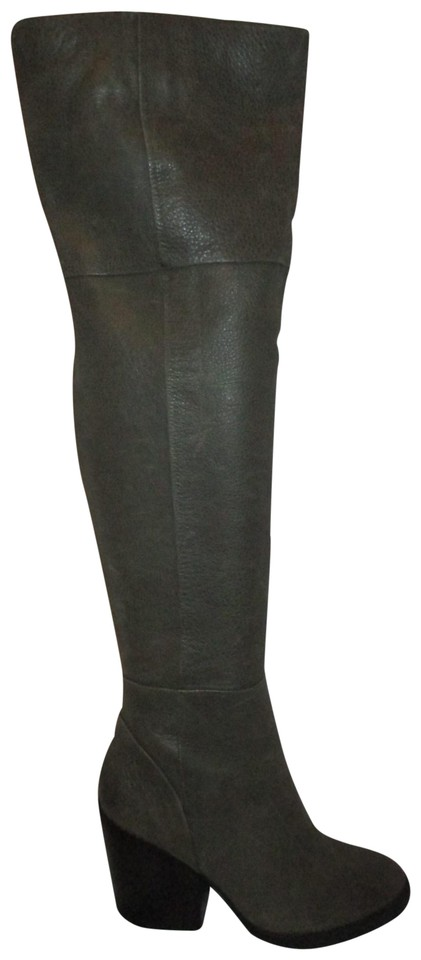 d455b4be7d1 ALDO Over The Knee Leather Thigh High sage green Boots Image 0 ...