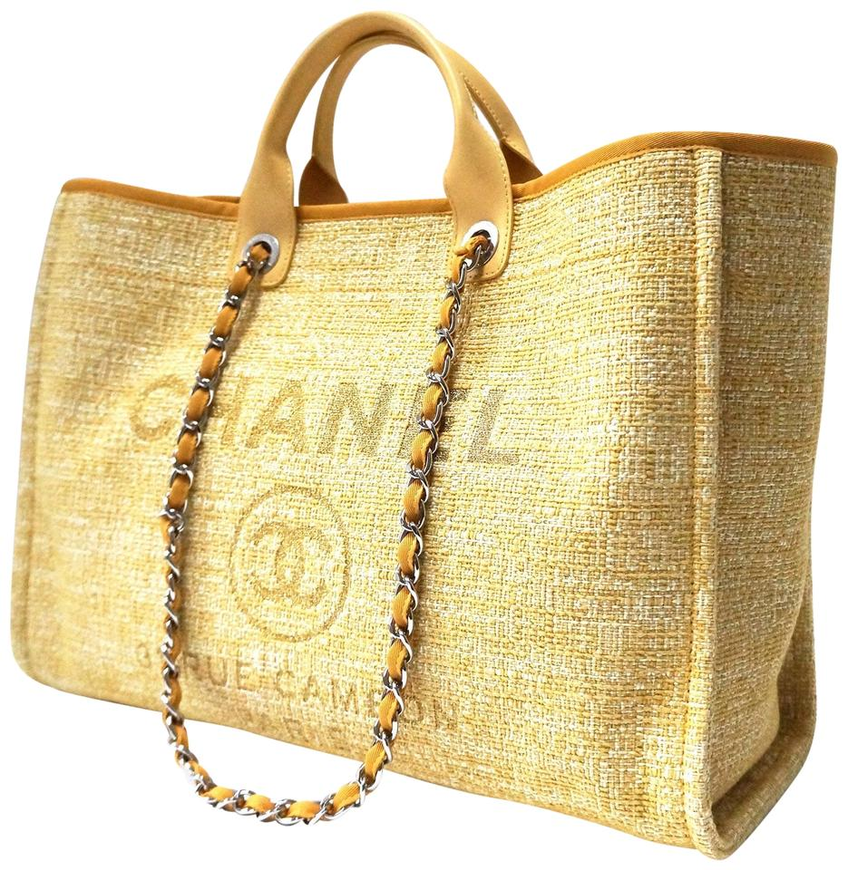 bc27ce2307a3fc Chanel Deauville Bag 2018 Limited Edition Grande Shopper Gold/Pale ...