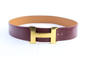 Hermès Bordeaux 42mm H Logo Belt 25HR0307