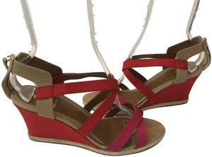 Fendi Wedge Pink/Red RED/PINK Sandals
