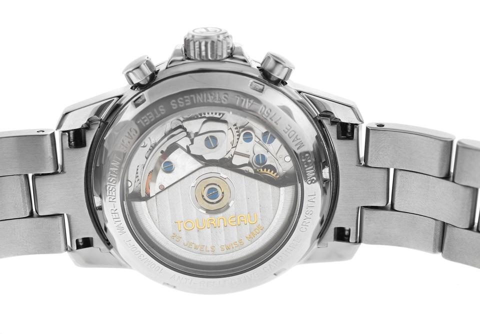 Tourneau Silver Men's Sportgraph Valjoux 7750 Chronograph 40mm Watch