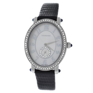 Tourneau Authentic Ladies Tourneau 34004-A-Wht Quartz Diamond Steel 26MM MOP